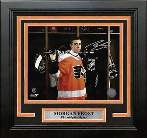 Morgan Frost Draft Autographed Signed Philadelphia Flyers Framed Photo JSA PSA