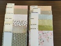 Stampin' Up! DESIGNER'S SERIES PAPER, RETIRED ,NIP, Great Selection 12x12