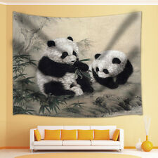 Polyester Cute panda Print Wall Hanging Tapestry Bedspread Dorm Home Decor