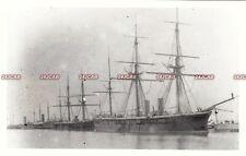 "Photograph Royal Navy. HMS ""Bellerophon"" Ironclad. Hulked. HMS ""Indus 111"" 1891"
