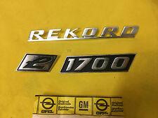 NEU ORIG Opel Rekord C 1,7 Emblem Schriftzug 1700 L Kofferdeckel Heckklappe NOS