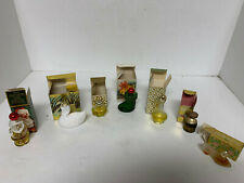 Miniature Avon Bottles lot of 7 with boxes