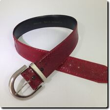 Harve Benard Vintage Red Snakeskin Belt accessory S 36 X 2