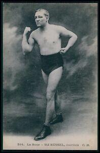 Sid Russell USA Australia boxer Boxing Sports original 1910s postcard