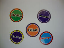 """MARGO 12 BOWLS STICKERS 1""""  LAWN BOWLS CROWN GREEN  FLAT GREEN INDOOR BOWLS"""