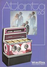 Wurlitzer Atlanta 200 Elektronische Jukebox Werbung Flieger 1970s 021219AME