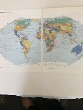 2002: Jumbo Map Of The World & Arctic Ocean Original Print