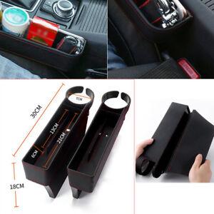 1PC Car Seat Storage Box Cup Drink Holder Organizer Gap Pocket Driver/Passenger