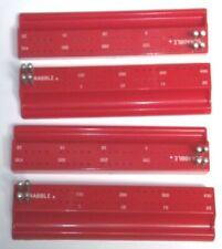 Lot of 4 Vintage 1966 Scrabble Bright Red Plastic Racks & Score Pegs VG+ Cond B