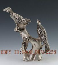 Chinese Silver Handwork Carved Statue - The bird gd0680