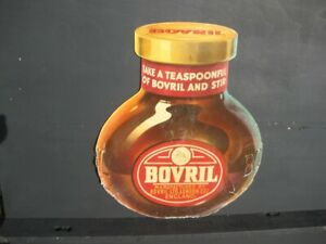 46029 Old Vintage Antique Card Shop Sign Not enamel GIANT Bovril Jar Display