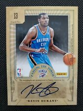 2012-13 KEVIN DURANT / GEORGE GERVIN ELITE PASSING THE TORCH DUAL SP AUTO #9/25!