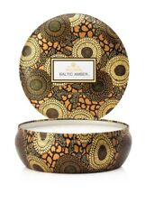 Voluspa Baltic Amber 3 Wick Decorative Tin Candle ~ 12 Oz