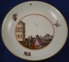 Rare 18thC Meissen Porcelain Scenic Scene Saucer Porzellan Szene Untertasse 1740