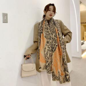 Women Fashion Imitate Cashmere Long Scarf Horse City Winter Warm Shawl 190*60cm