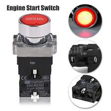 Auto Car Engine Start Push Button Switch Red LED Illumination Starter Boat