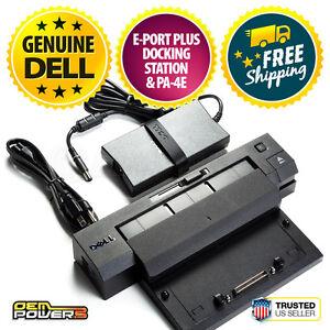 Dell Docking Station E-Port Plus Replicator PR02X E7240 E5570 E7450 + AC PA-4E