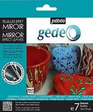 Pebeo Gedeo Effetto di SPECCHIO METALLO gilding FOIL FOGLIE-assortiti colori misti Set