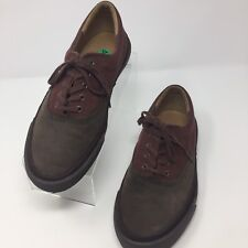 Cole Haan Mens Casual Skate Walking Boat Tennis Shoe Brown Leather/Canvas Sz 8M