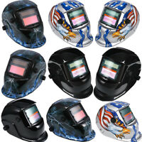 Auto Darkening Welding Helmet Arc Tig Mask Welders Grinding Function Solar Power