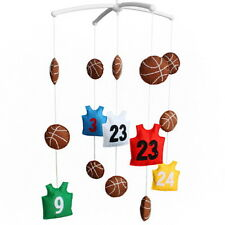 Musical Mobile Unisex Baby Crib Mobile, Colorful Gift for Baby [Basketball]