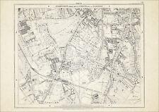 Old map London 1877 #18 repro - Clapham Common, Clapham Park, Balham etc