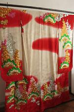 Kimono Hochzeit Hochzeitskimono Uchikake Brokat Seide  Japan handgenäht Geisha
