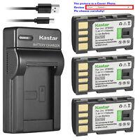 Kastar Battery Slim Charger for JVC BN-VF808 BN-VF808U & JVC GZ-HD260 Camcorder