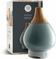 Ceramic Vase Essential Oil Diffuser with Wood Opening by Woolzies