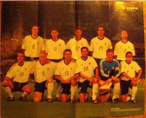 Poster WM 2002  DFB Fussball Deutsche Nationalmannschaft Vize-Weltmstr. Ronaldo