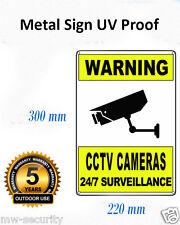 2x Metal Reflective Warning CCTV Security Surveillance Camera Alloy SIGNS 22x30