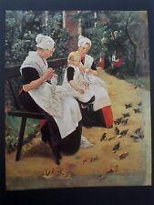 Max Liebermann, Amsterdamer Waisenmädchen im Garten, 1885, Farbdruck 70er Jahre