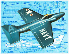 Model Airplane Plans CONTROL LINE AIRPLANE BLUE ANGEL INST & FS PLANS