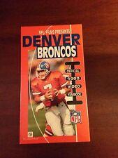 Denver Broncos 1992 Team Video Yearbook VHS Like New