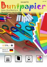 Buntpapier Bastelpapier Farbiges Papier DIN A4 32 Blatt - 8 Farben #1003