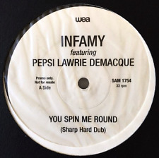 """INFAMY FT PEPSI LAWRIE DEMACQUE & GEORGE MICHAEL You Spin Me Round (12"""" Promo)"""