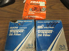 OIL FILTER GROUP of 3 FILTERS 2 SEARS TRAPPER # O3 + 1 FRAM # PH30 - CROSS # V49