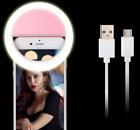Selfie LED Ring Light for Cell Phones, Laptops, Tablets - White