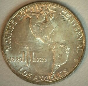 1923 S Monroe Commemorative Half Dollar Silver Uncirculated