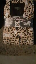Pj Salvage Flannel Pajamas Women'S Leopard Print Sets Size M, L, Xl