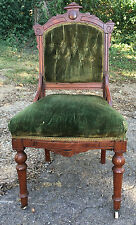Victorian/Eastlake Chair Cherry/Mahogany Hand-tied Springs NASHVILLE LOCATION