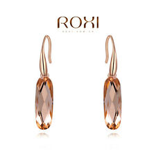 ROXI Jewelry Women Rose Gold Zirconia Crystal Earrings Engagement Wedding Gift X