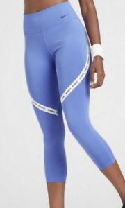 Nike One Dri-Fit Mid-Rise Tight Fit Crop Leggings Womens S,M,L Purple DD1813-500