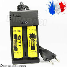 2 PILES ACCU RECHARGEABLE 18650 3.7v 12000mAh BATTERY BATTERIE + CHARGEUR RS-99
