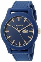 Lacoste Original 2010817 Unisex 12.12 Blue Silicone Strap Watch 43mm