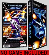 Gradius V  - PS2 Reproduction Art DVD Case No Game
