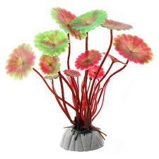 Artificial Pecera Verde Planta de Plástico Silicona Coral Decorativo Acuario
