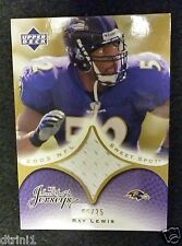 2003 UD Sweet Spot Gold Ray Lewis Jersey Swatch #08/25
