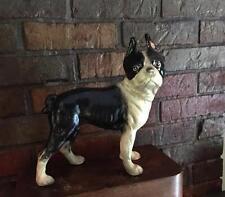 Cast Iron Hubley Boston Terrier Dog Vintage Door Stop