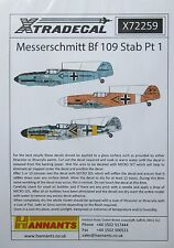 Xtradecal 1/72 X72259 Messerschmitt Bf109 Stab Decal set pt 1